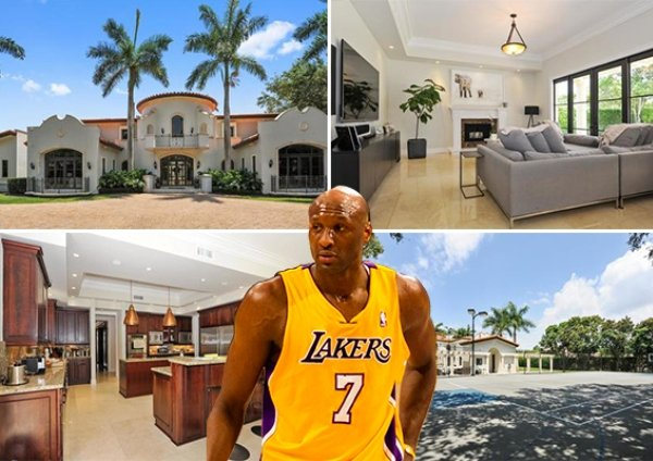 L'ancienne star NBA  et ex mari de Kloe Kardashian, Lamar Odom  vend sa maison